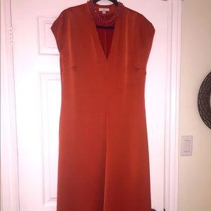 Halston rust colour dress size M